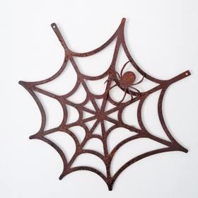 Pajęczyna z pająkiem - dekoracja do zawieszenia